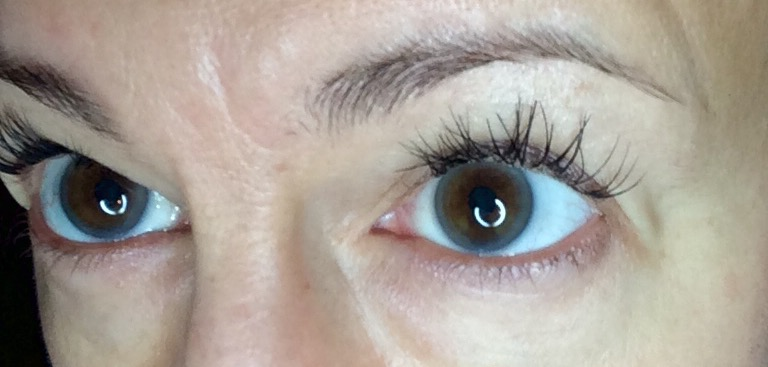 "Item #4 on the ""Try 50 new things before 50"" list: EYELASH EXTENSIONS!!!"